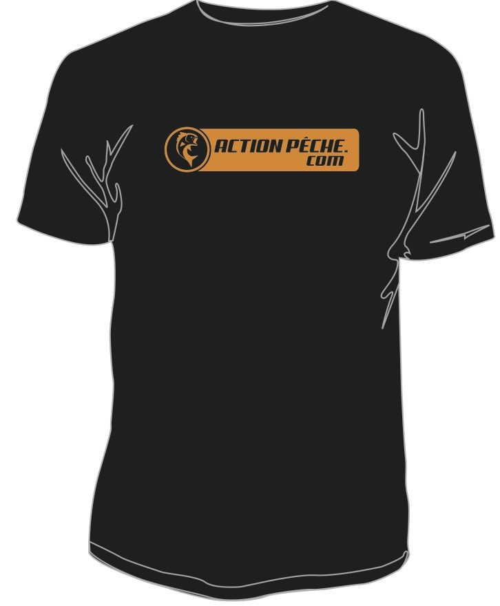T-SHIRT ACTIONPECHE NOIR