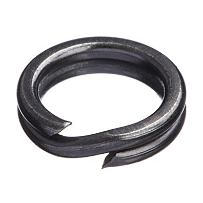 ANNEAUX BRISES DECOY SPLIT RING MAT BLACK PAR 20 PCES