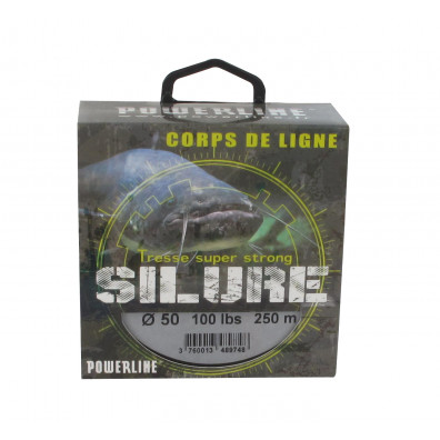 TRESSE SILURE 8 BRINS POWERLINE 250M